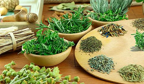 Utensílios para picar ervas e temperos