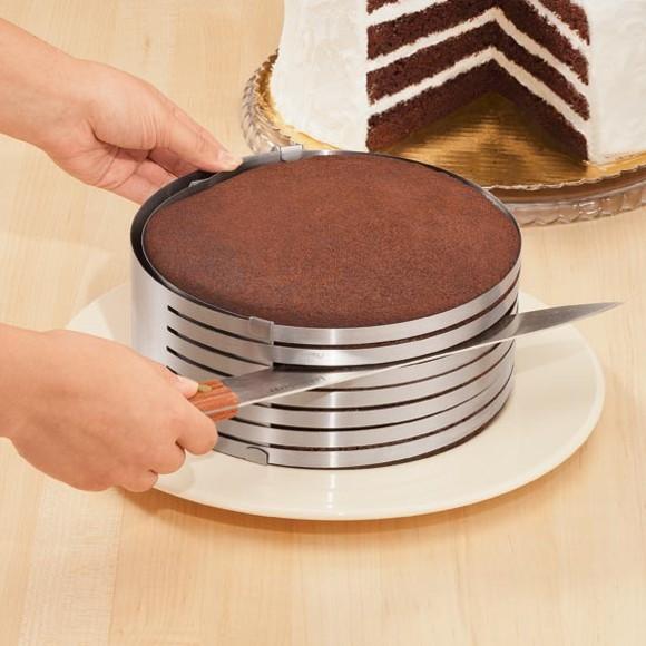 cortar bolo em camadas