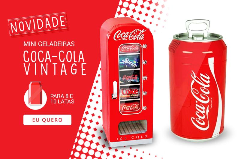 mini geladeira Coca-Cola